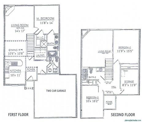 Planos de casas pequeñas de dos pisos (10)
