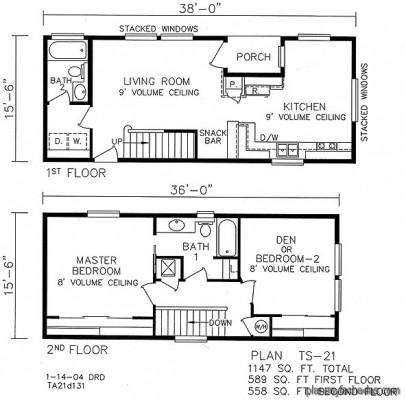 Planos de casas pequeñas de dos pisos (11)