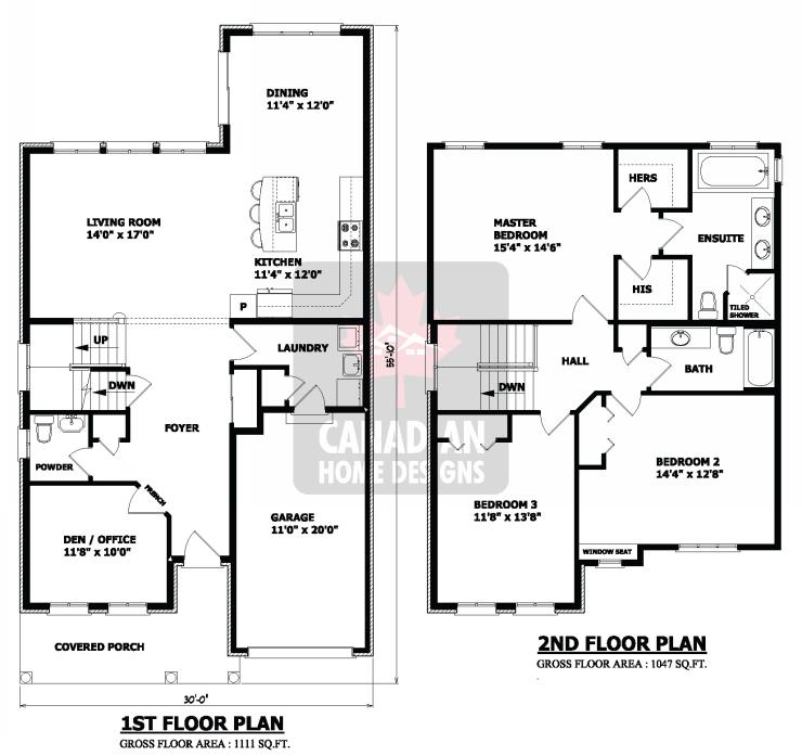 15 planos de casas peque as de dos pisos planos y for Planos de casas de dos pisos modernas