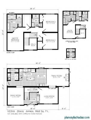 Planos de casas pequeñas de dos pisos (3)