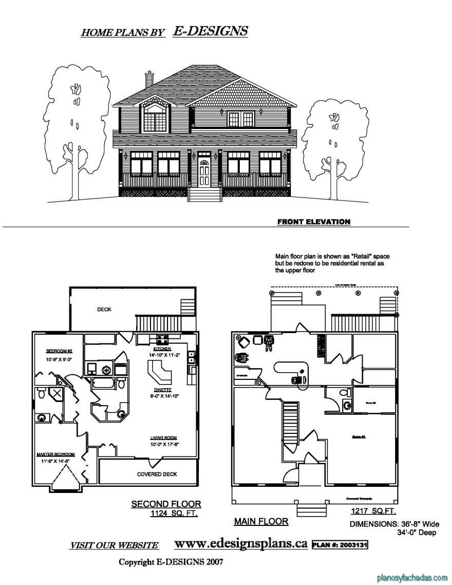 15 planos de casas peque as de dos pisos planos y Two story house plans with balcony