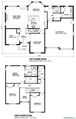 Planos de casas pequeñas de dos pisos (6)