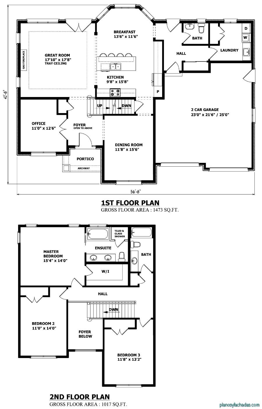 15 planos de casas peque as de dos pisos planos y - Planos de casas pareadas ...