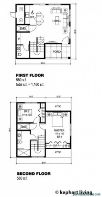 Planos de casas pequeñas de dos pisos (7)