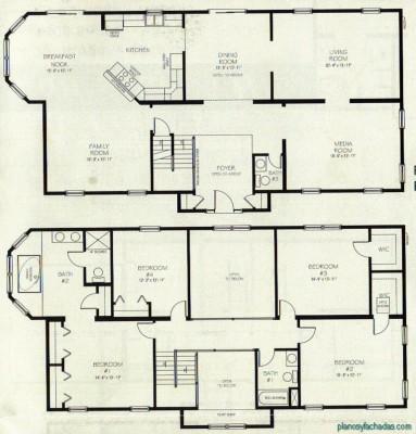 Planos de casas pequeñas de dos pisos (9)