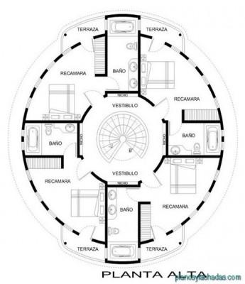 planos casas circulares 2