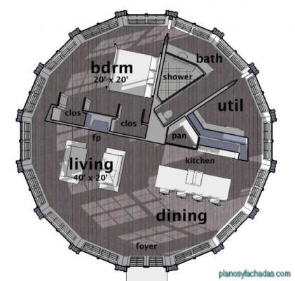 planos circulares fachada 1