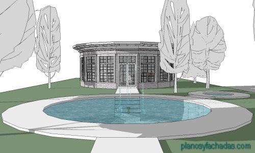 planos circulares fachada 2