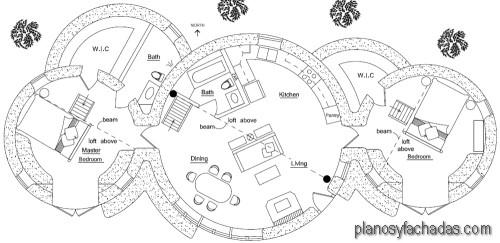 planos de casas circulares 1