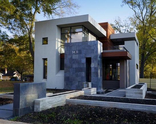 16 fachadas de casas con piedras planos y fachadas for Piani casa con breezeway al garage