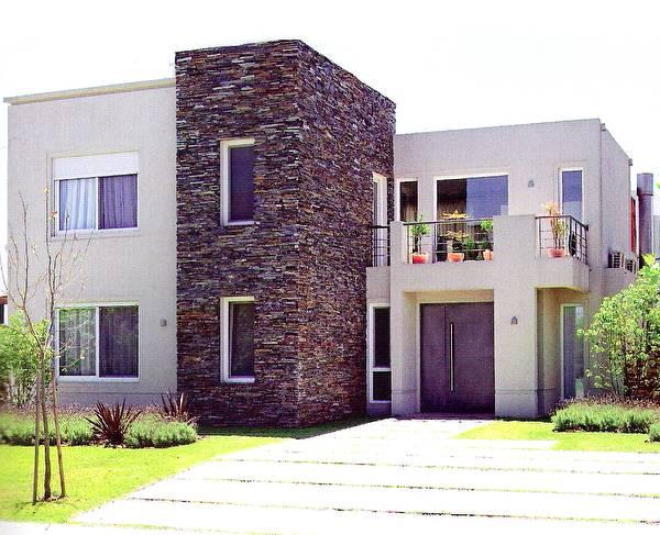 16 fachadas de casas con piedras planos y fachadas