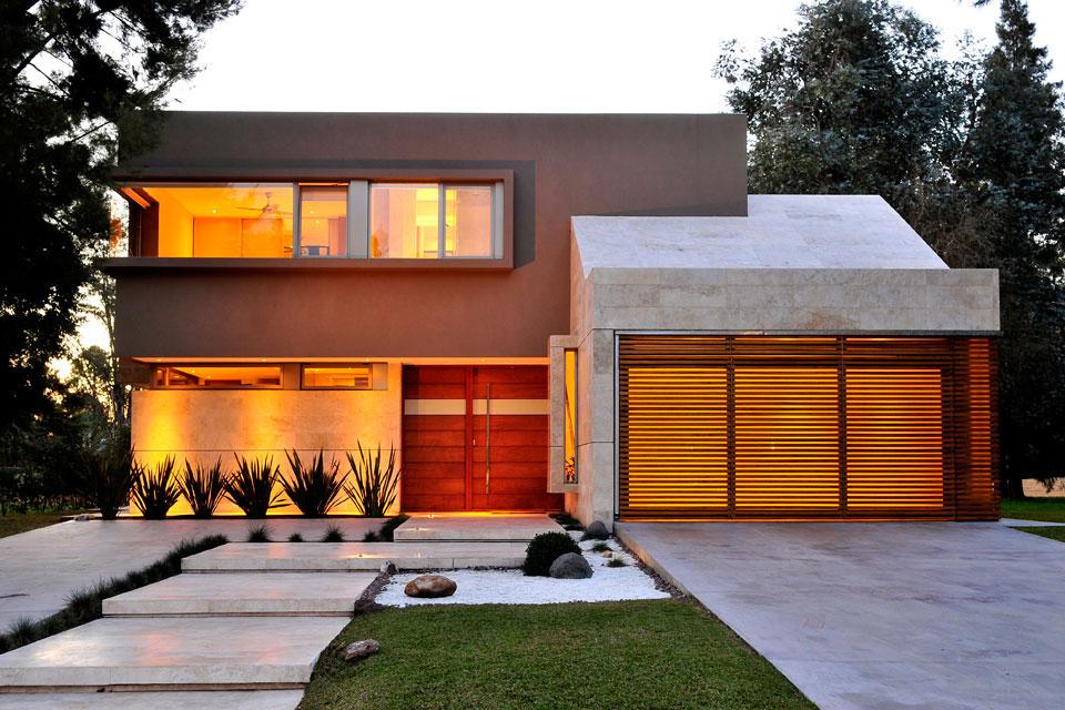 16 fachadas de casas con piedras planos y fachadas for Casa moderna jardin d el menzah