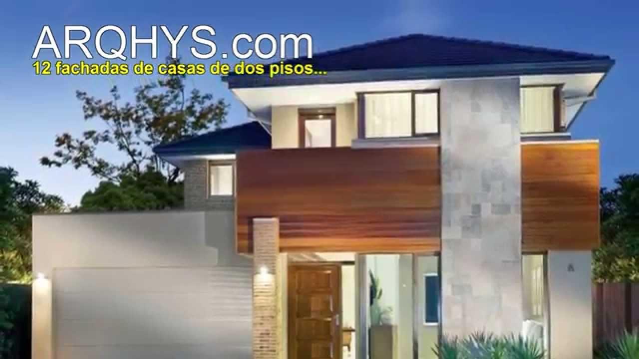 10 fachadas de casas de dos pisos planos y fachadas todo for Diseno para casas de 2 pisos