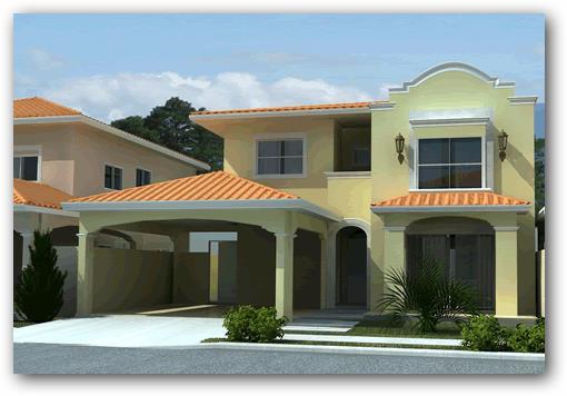 10 fachadas de casas de dos pisos planos y fachadas for Modelos de casas de 2 pisos