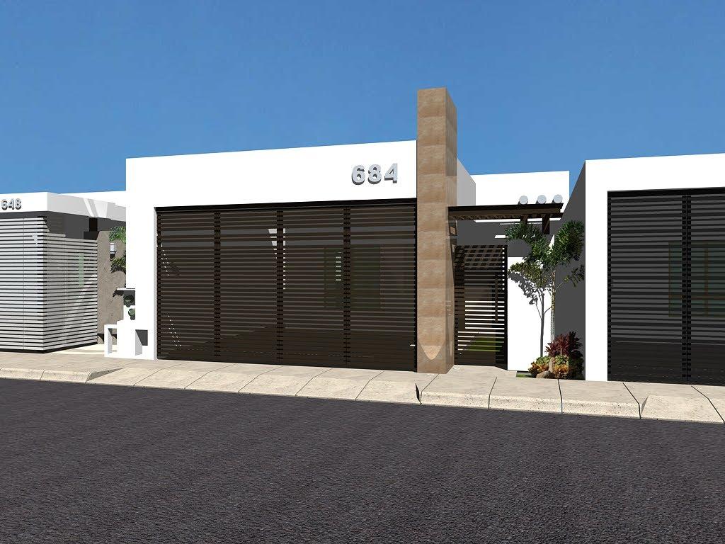 12 fachadas de casas minimalistas planos y fachadas for Casa moderna 7x15