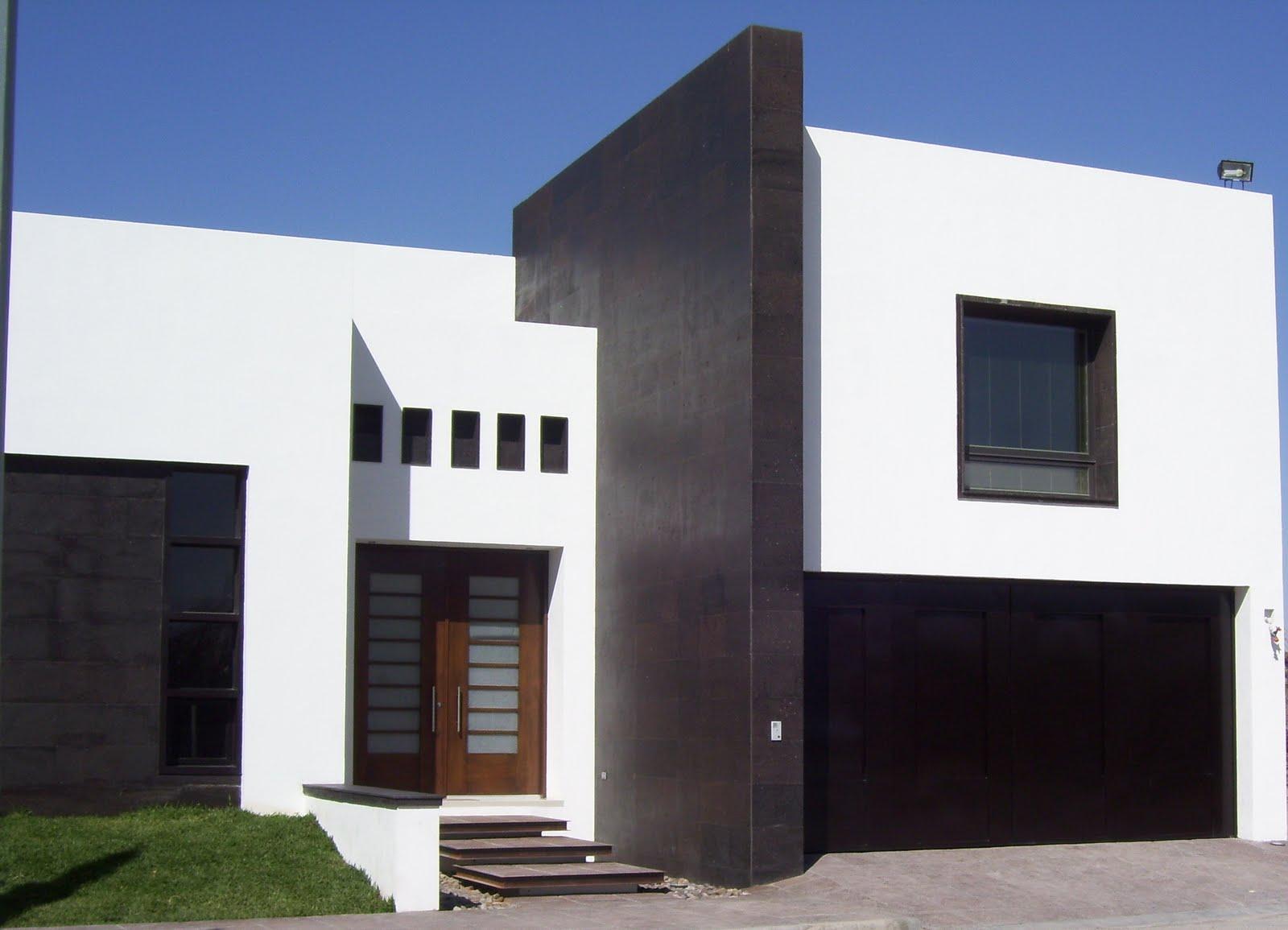 12 fachadas de casas minimalistas planos y fachadas for Colores en casas minimalistas