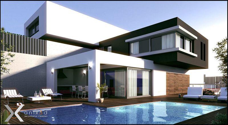 10 modelos de casas modernas planos y fachadas todo for Disenos para frentes de casas