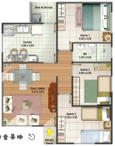 planos de casas 3 dormitorios10