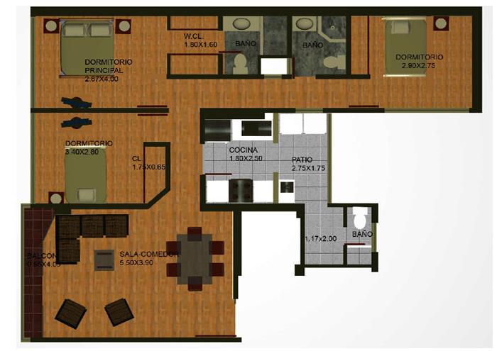 planos de casas 3 dormitorios16