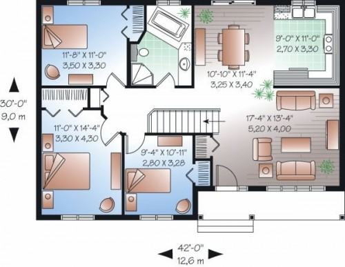 planos de casas 3 dormitorios19