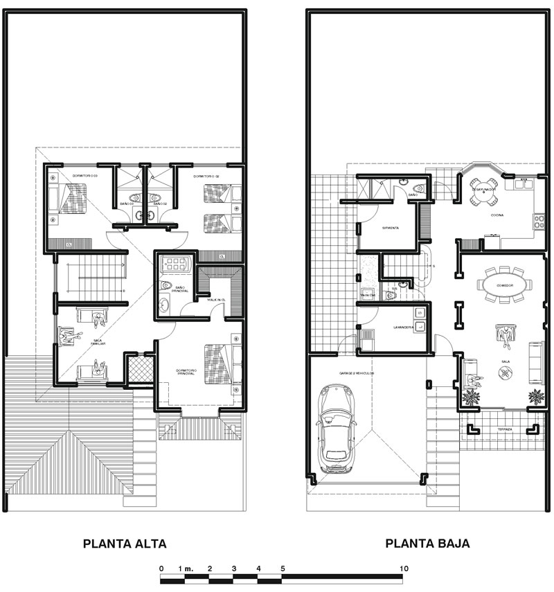 18 planos de casas coloniales planos y fachadas todo for Bano bajo escalera planta
