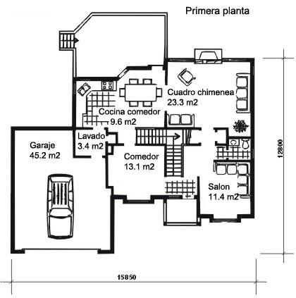 planos de casas coloniales6
