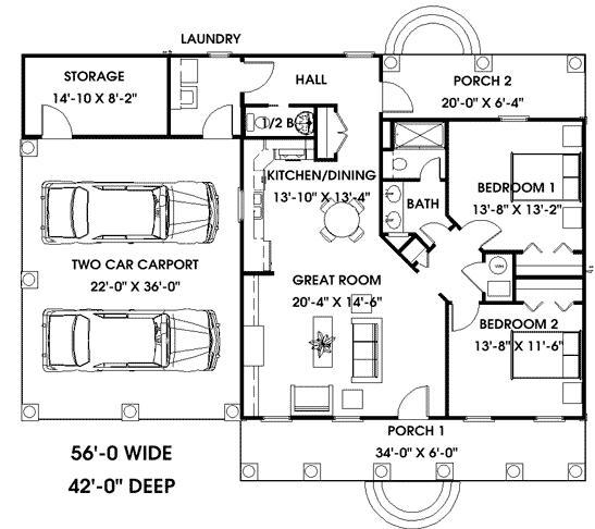 planos de casas coloniales7