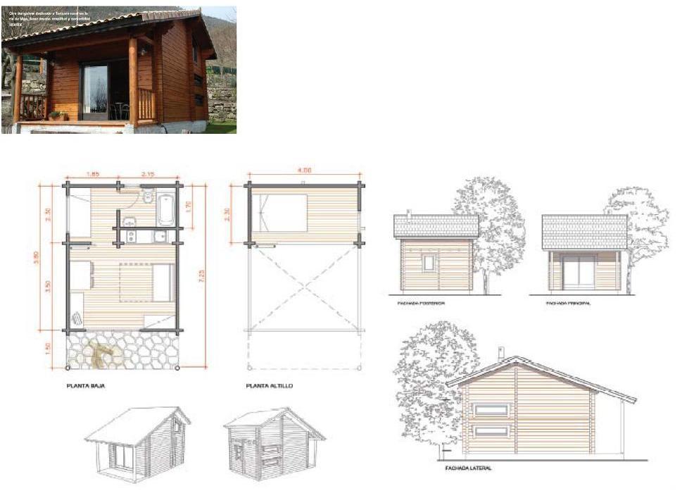 18 planos de casas de madera planos y fachadas todo - Propiedades de la madera ...