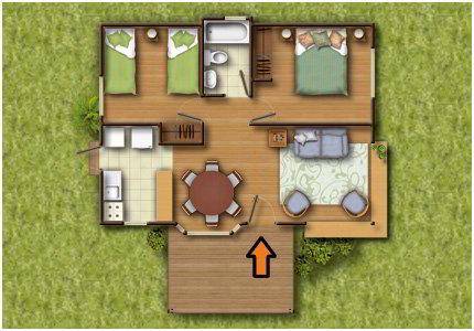 planos de casas pequenas en madera
