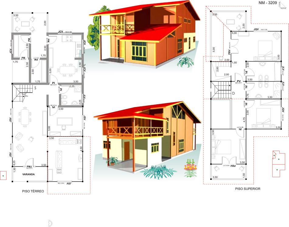 18 planos de casas de madera planos y fachadas todo for Planos de casas de un piso gratis