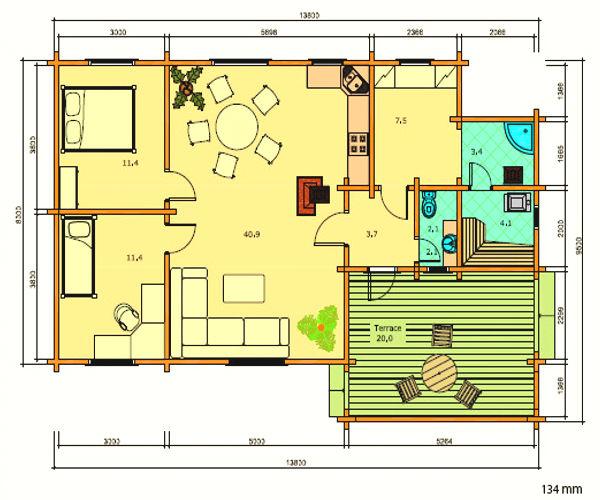 18 planos de casas de madera planos y fachadas todo para el dise o de tu casa planos y - Planos faciles de casas ...