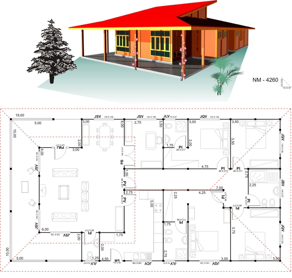18 planos de casas de madera planos y fachadas todo for Imagenes de planos de casas