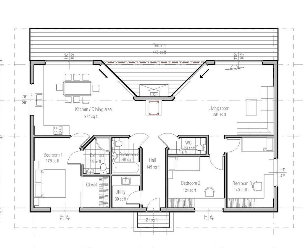 15 planos de casas modernas gratis planos y fachadas - Planos de casas modernas de una planta ...