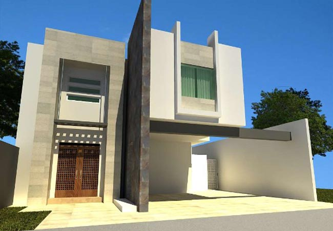 24 fotos de fachadas de casas modernas planos y fachadas for Fachadas de viviendas modernas