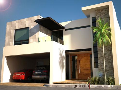 20 frentes de casas modernas planos y fachadas todo para - Dibujos de casas modernas ...