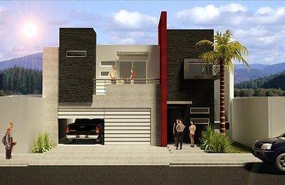 Frentes de casas modernas (17)