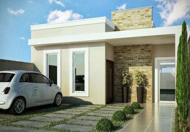 20 frentes de casas modernas planos y fachadas todo para On frente de casas pequenas modernas