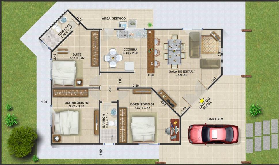 20 planos de casas chicas planos y fachadas todo para el for Planos de casas pequenas de una planta