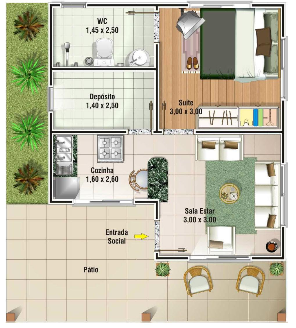 20 Planos de casas chicas - Planos y Fachadas - Todo para el diseño ...