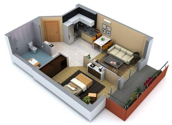20 planos de casas chicas planos y fachadas todo para for Casa minimalista 6 x 12