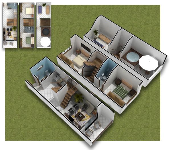 20 planos de casas chicas planos y fachadas todo para el - Planos en 3d de casas ...