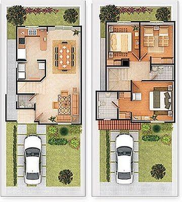 planos de casas pequenas fachadas