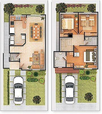 20 planos de casas chicas planos y fachadas todo para for Fachadas para departamentos pequenos