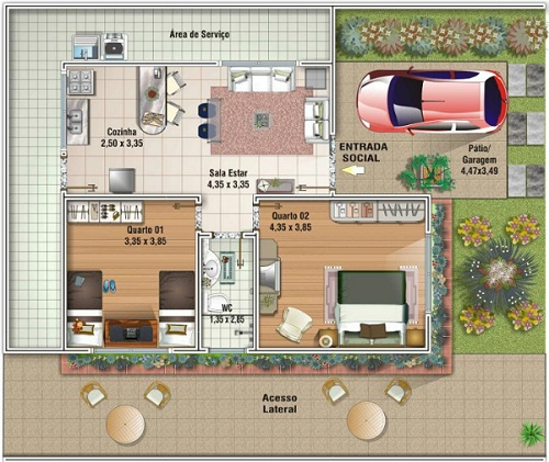 20 planos de casas chicas planos y fachadas todo para for Planos de casas economicas de 3 dormitorios