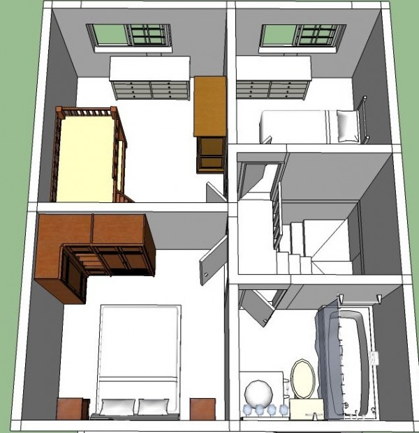 planos de casas de dos pisos chicas