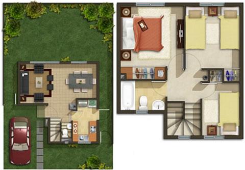 20 planos de casas chicas planos y fachadas todo para for Planos de casas lindas
