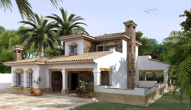 Fachadas Casas Coloniales on Modern Front House Elevation Designs