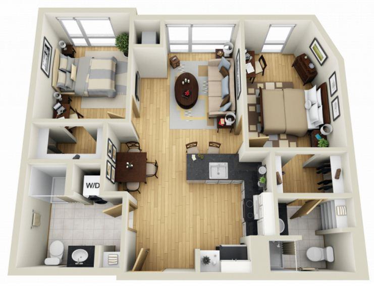 9 planos de departamentos grandes planos y fachadas for Edificio de departamentos planos