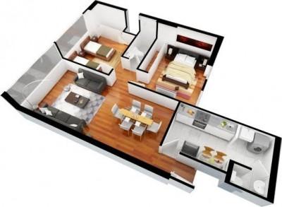 departamento moderno y amplio plano