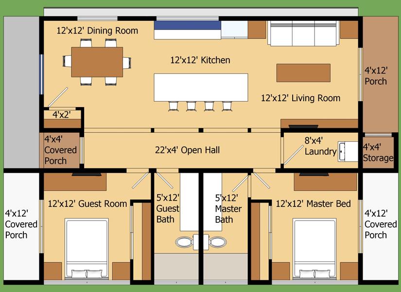 9 planos de departamentos grandes planos y fachadas
